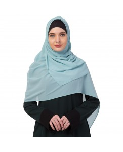 Stole For Women -   Chiffon Fabric - Best For All Season's - Hijabs That Don't Slip -  Plain Chiffon Hijab - Green - Size - 75/185 CM
