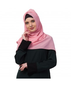 Stole For Women -   Chiffon Fabric - Best For All Season's - Hijabs That Don't Slip -  Plain Chiffon Hijab - Pink - Size - 75/185 CM