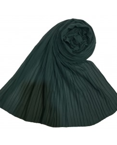 Stole For Women - Fabric - Chiffon Fabric - Quality On Point - Pleated Liner Chiffon Hijab - Green - Size - 75/185 CM