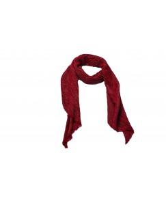 Stole For Women - Crinkled Cotton Fabric -  Mesh Sparkling Women's Stole - Maroon - Size - 75/185 CM