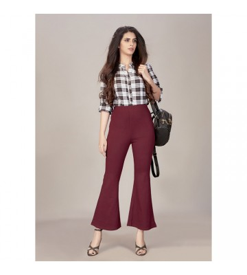 Beautiful Burgundy Bell Bottom Jegging