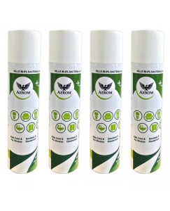 (bestcart4you) Aerom Disinfectant Sanitizer and Deodoriser Spray 350 ml Each (Pack of 4)