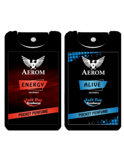 (bestcart4you) Aerom Energy and Alive Pocket Perfume, For Men, 18.4 ml, (Pack of 2)