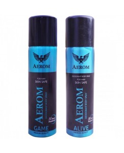 Bestcart Aerom Game And Alive Deodorant Body Spray For Men 300 Ml Pack Of 2