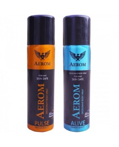 Bestcart Aerom Pulse And Alive Deodorant Body Spray For Men 300 Ml Pack Of 2