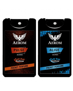 (bestcart4you) Aerom Pulse and Alive Pocket Perfume, For Men, 18.4 ml, (Pack of 2)