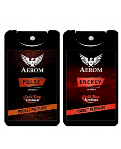 (bestcart4you) Aerom Pulse and Energy Pocket Perfume, For Men, 18.4 ml, (Pack of 2)