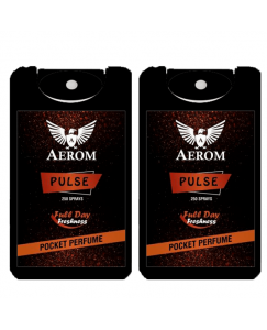 (bestcart4you) Aerom Pulse and Pulse Pocket Perfume, For Men, 18.4 ml, (Pack of 2)