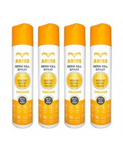 Bestcart Aries Orange Germ Kill Disinfectant Spray For Skin And Surface 310Ml Each Pack Of 4