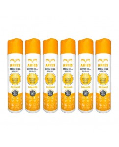 Bestcart Aries Orange Germ Kill Disinfectant Spray For Skin And Surface 310Ml Each Pack Of 6