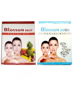 (bestcart4you) Blossom Fruit And Diamond Facial Kit for Women, Pack of 2, 80 Gm