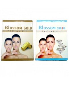 (bestcart4you) Blossom Gold And Diamond Facial Kit for Women, Pack of 2, 80 Gm