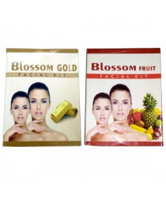 (bestcart4you) Blossom Gold And Fruit Facial Kit for Women, Pack of 2, 80 Gm