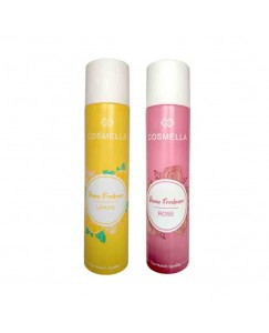 Bestcart Cosmella Air Freshener Lemon And Rose For Room Home Office Party Hall 310Ml Each Pack Of 2