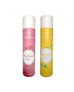 Bestcart Cosmella Air Freshener Rose And Lemon For Room Home Office Party Hall 310Ml Each Pack Of 2