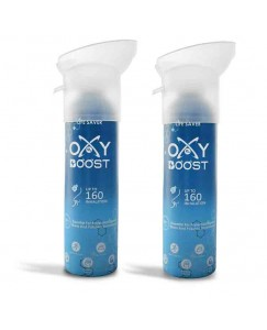 Bestcart Oxy Boost Natural Portable Oxygen Cylinder Can With Inbuilt Mask 9 Litre 160 Breaths Approx. Pack Of 2