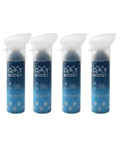 Bestcart Oxy Boost Natural Portable Oxygen Cylinder Can With Inbuilt Mask 9 Litre 160 Breaths Approx. Pack Of 4