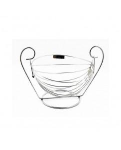 Vaishvi Stainless Steel Swing Fruit And Vegetables Storage Basket For Kitchen (Silver, Standard) (Bestcart4You)