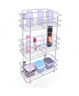 Vaishvi Multipurpose 3 Tier Kitchen Rack | Storage Shelf | Cutlery Storage Rack | Dish Rack | Storage Rack For Kitchen And Office – Chrome Finish Stainless Steel (Bestcart4You)