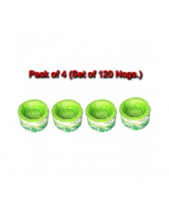 Vaishvi 3 Layer Double Side Catted Plastic Disposable Containers | Paper Katori (Padiya) (Set of 120 Pcs)