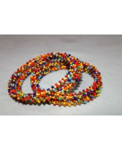 Multicolor Beaded Bangles